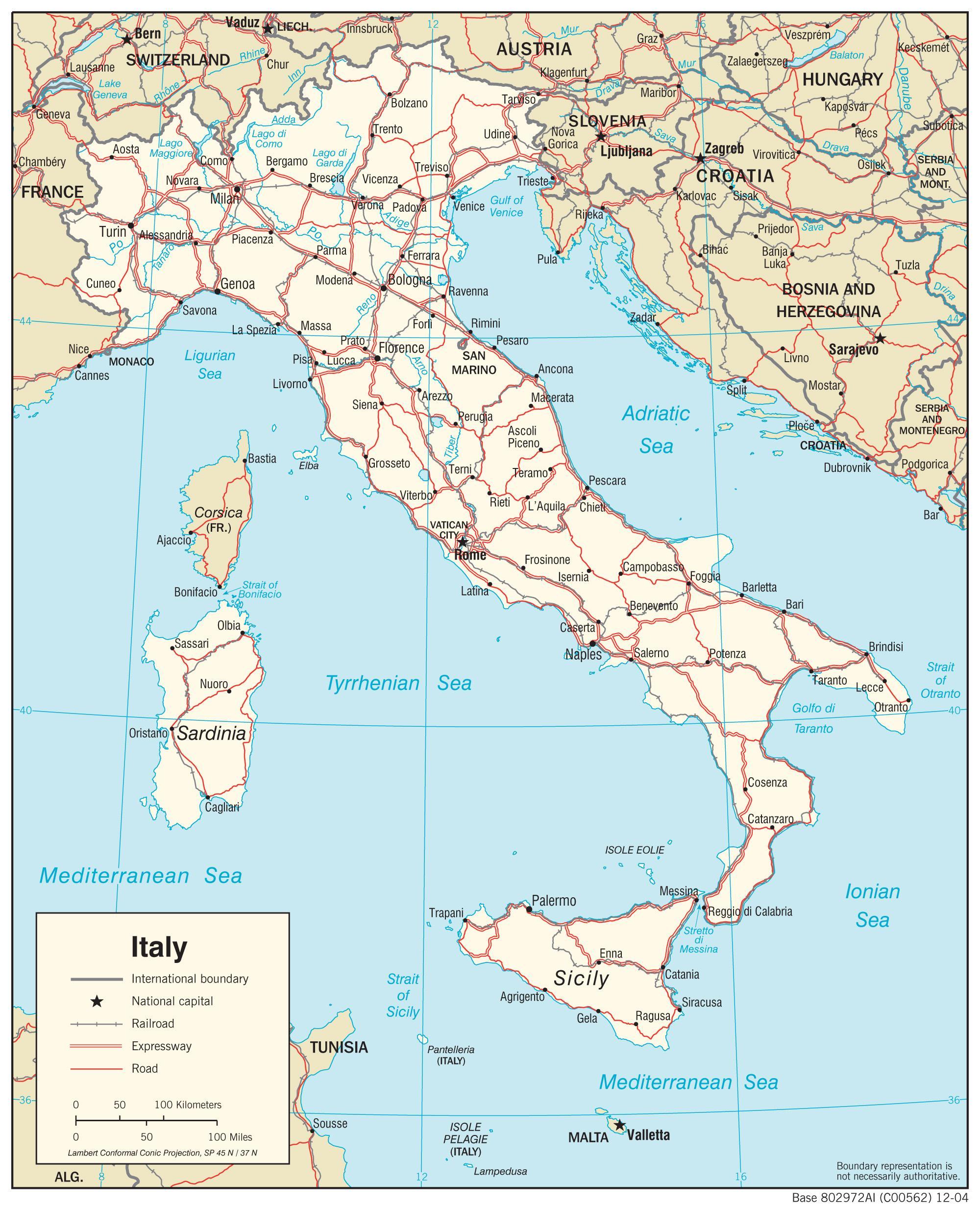 Interaktivna Mapa Italije Gdje Je Italija Se Nalazi Na Kartici