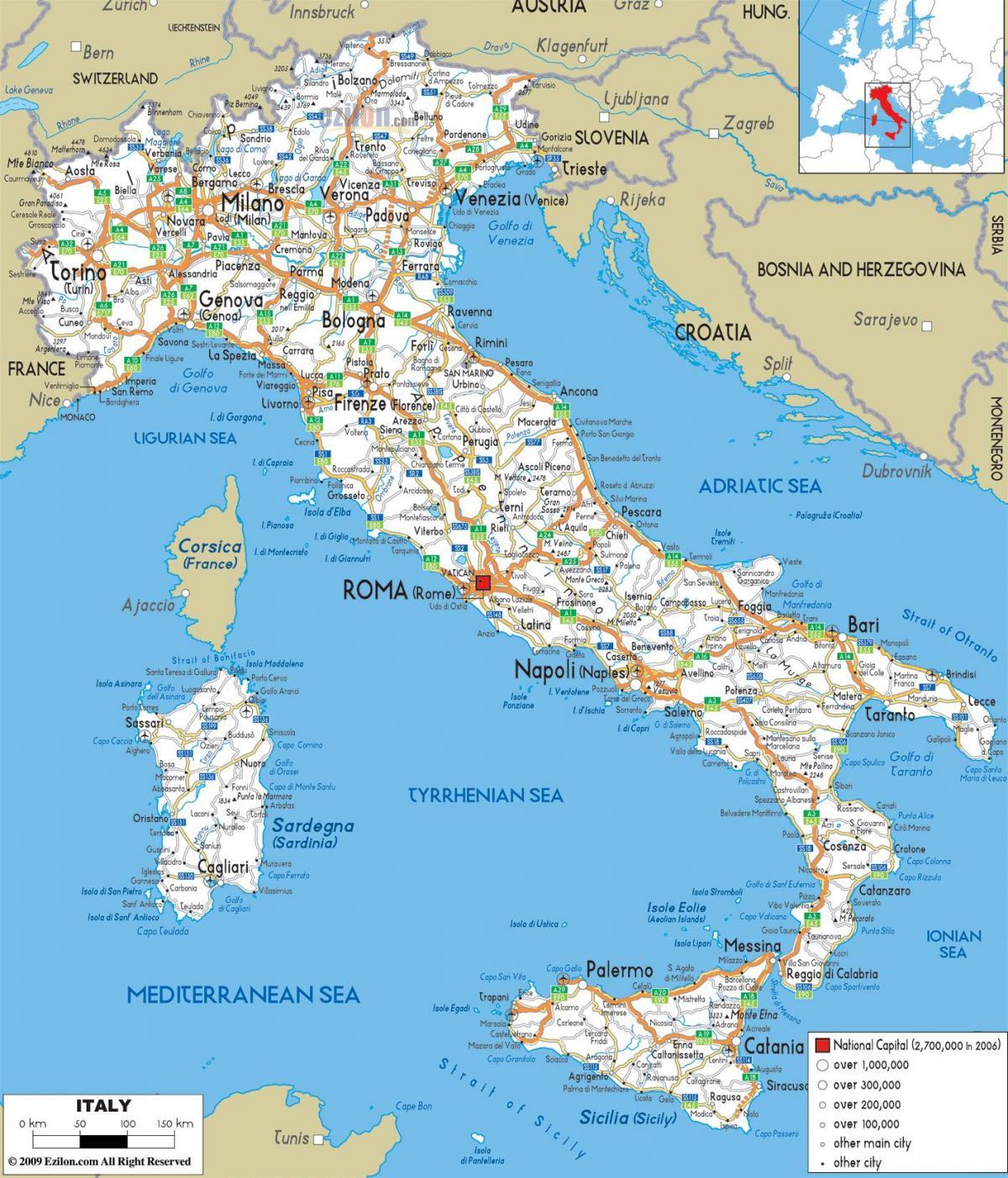 Detaljna Karta Italije Karta